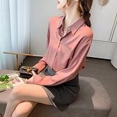 (下殺)襯衫女上衣設計感設計款復古港味雪紡衫氣質長袖襯衫【08SG05021】