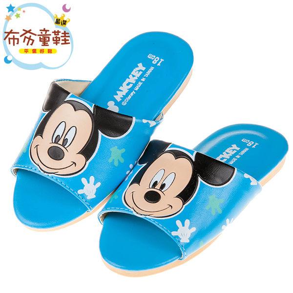 《布布童鞋》Disney迪士尼米奇藍色台灣製兒童室內拖鞋(18~22公分) [ Y7Y686B ]