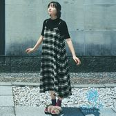 ❖ Autumn ❖ 【SET ITEM】廣瀨鈴著用款-格紋背心ALINE洋裝+短袖素面上衣 - earth music&ecology