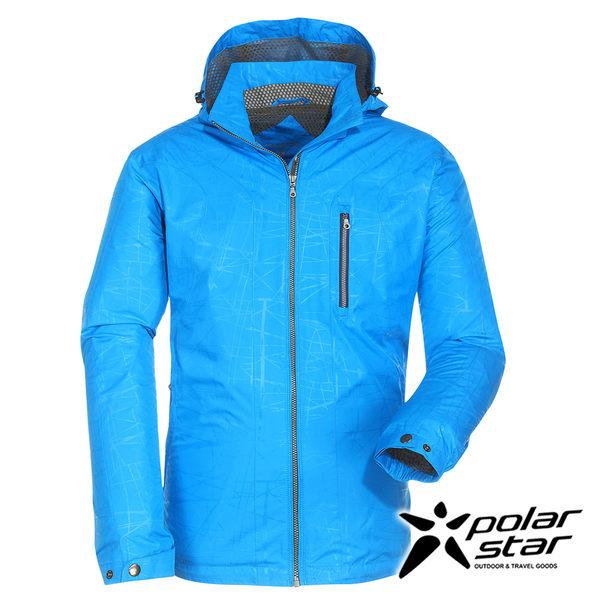 PolarStar 男防風防潑水保暖外套『天藍』戶外│休閒│登山│露營│機能衣 P16251