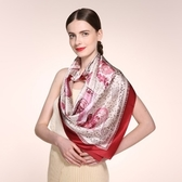 桑蠶絲圍巾-簡約時尚經典大方女絲巾2色73hx15【時尚巴黎】