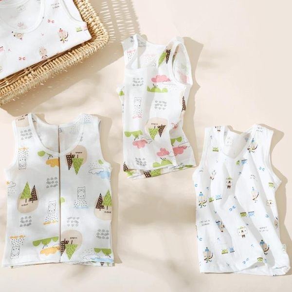 寶寶小背心純棉薄款兒童無袖嬰兒幼兒打底上衣男童夏季女童夏裝潮 新知優品