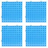 【台灣製USL遊思樂】多向連接方塊 專用操作底板 / 大萬用板(藍色,4pcs)