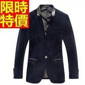西裝外套  男韓版 西服 質感奢華-細緻美式風金絲絨俐落65b6[巴黎精品]
