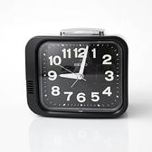 SEIKO沉穩黑色方框傳統型鬧鐘NV43