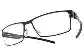 Ic! Berlin 光學眼鏡 PETER C. GRAPHITE (石墨) 質感小方框款 薄鋼眼鏡 # 金橘眼鏡