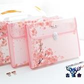 文件夾手提式多層韓版可愛整理收納袋大容量文雅
