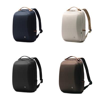 SINGLE單眼皮女孩 簡約時尚方便雙側袋內插袋可放14吋筆電實用帆布後背包