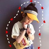 夏季新款兒童大檐防曬遮陽帽戶外運動空頂帽男女童棒球親子鴨舌帽