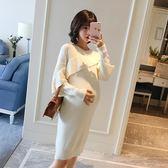 孕婦洋裝 孕婦秋裝時尚款好康推薦新款長袖洋裝 正韓寬鬆中大尺碼針織洋裝 彩希精品