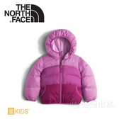 【The North Face 女童 雙面 550FP羽絨外套《紫藤紫灰》】NF0A2TMEHLP/鵝絨外套/保暖外套/雙面穿