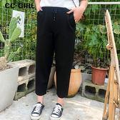 中大尺碼  口袋黑色九分長褲 - 適XL~4L《 68225 》CC-GIRL