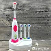 兒童牙刷電動牙刷旋轉式寶寶小孩牙刷軟毛 卡通 3 6 12歲自動牙刷 潔思米
