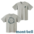 【mont-bell】WICKRON 童 抑菌抗UV圓領短袖T恤『HCH 炭灰』1114429 上衣 短袖 印花 T恤 親子裝