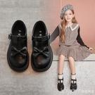 女童鞋子2020新款春秋兒童黑色小皮鞋公主英倫風秋款單鞋百搭軟底 美眉新品