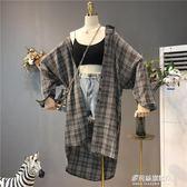 格子襯衫女夏裝新款韓版女裝港味防曬衣開衫薄外套潮   多莉絲旗艦店
