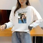 長袖T恤 大學T女裝秋季圓領上衣套頭衫MD048-A1依佳衣
