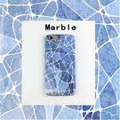 【SZ15】iPhone 7/8 plus手機殼 塗鴉藍色大理石 iPhone7/8手機殼iPhone6s plus手機殼硬殼