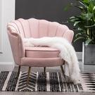 沙發 小戶型網紅輕奢單人沙發北歐現代簡約客廳臥室服裝店沙發雙人沙發YYJ 【快速出貨】
