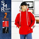 帽T-雙帽印花嘻哈帽T-街潮保暖首選款《99972008》紅色.黑色【現貨+預購】『SMR』