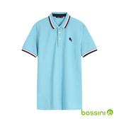 彈性立領POLO衫03淡藍-bossini男裝
