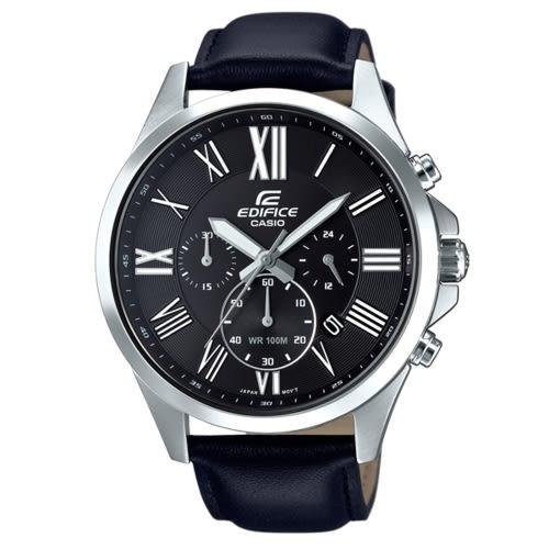 CASIO EDIFICE簡潔精準的羅馬數字腕錶/EFV-500L-1AVUDF