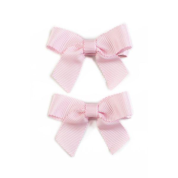 美國 Ribbies Clippies 經典蝴蝶結2入組-淺粉