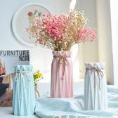 簡約歐式小清新陶瓷花瓶ins家居桌面干花鮮花器客廳餐桌工藝擺件·Ifashion