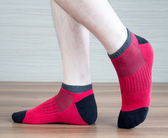 (男襪) 抗菌襪 除臭襪 吸濕排汗除臭襪 抗菌除臭襪 抗菌機能襪 抗菌船型/短襪 - 紅色【W076-04】Nacaco