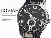 【完全計時】手錶館│LOVME品牌手錶 黑鋼溫柔紳士 超薄 情人腕錶 S0139SM-33-3A1 禮物 下殺特賣