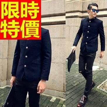 中山裝-非凡韓版毛呢中國風男西裝外套2色65e38【時尚巴黎】