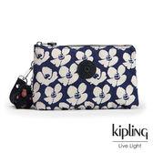 Kipling 夏日時光花卉印花掛繩手拿包-小-CREATIVITY XL
