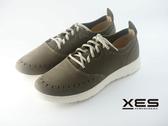 XES 輕質量綁帶休閒鞋 舒適真皮 MIT 男鞋 墨綠