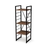 (組)特力屋萊特三層架黑框/深木紋-40x40x128cm