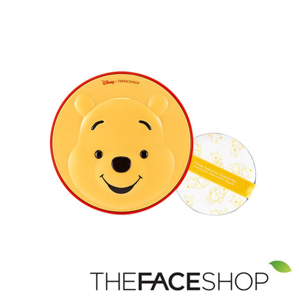 韓國 THE FACE SHOP × 迪士尼限量聯名 CC保濕降溫感氣墊粉餅 (維尼) 15g 氣墊粉餅 小熊維尼 維尼熊