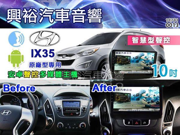 【專車專款】10~18年Hyundai IX35 專用10吋觸控螢幕安卓聲控多媒體主機*藍芽+導航+安卓*無碟四核心