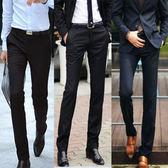夏季新款商務男士直筒修身黑色西裝褲 QQ312『優童屋』
