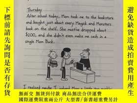 二手書博民逛書店Diary罕見of a Wimpy Kid: 一個懦弱孩子的日記、Y200392