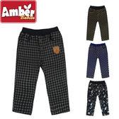 Amber  長褲  褲子  休閒長褲  男女童  聖誕  格子  字母