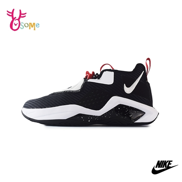 NIKE運動鞋 女鞋 慢跑鞋 可調式跑步鞋 路跑 訓練鞋 潮鞋 透氣 LEBRON SOLDIER XIV EP 14 GS Q7024#黑白◆奧森