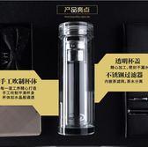 雙層商務帶蓋水晶保溫加厚過濾耐熱車載水杯YX512『小美日記』
