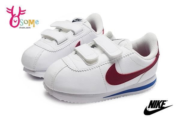 NIKE阿甘鞋 小童鞋 現貨 正版 原廠配色 Cortez Basic SL (TDV)復古慢跑鞋O7034#白紅◆OSOME奧森鞋業