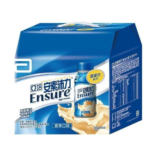 亞培 安素沛力 禮盒-香草口味 (237ml*6瓶 )兩盒 【杏一】