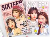 韓國 16brand 迷你雜誌雙色眼影盤(2.5g)☆現貨供應☆【宇庭飾品店】