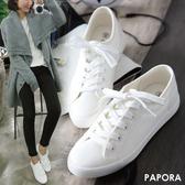 經典不敗平底休閒學生小白鞋帆布鞋【KC030】白色  男生/女生