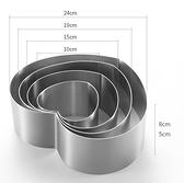 304不銹鋼加高8cm慕斯圈蛋糕模具6/8寸方形圓形提拉米蘇芝士烘焙 初色家居館