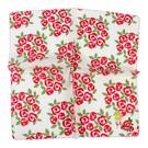 Sybilla 薔薇波浪邊刺繡純綿帕領巾(紅色)