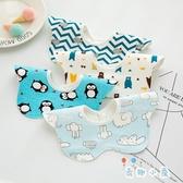 3條裝 寶寶圍兜圍嘴嬰兒口水巾新生兒童印花【奇趣小屋】