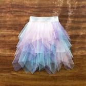 女童短裙 半身裙夏天紗裙兒童半裙薄款夏季裙子短裙半截裙女大童舞蹈裙【快速出貨】
