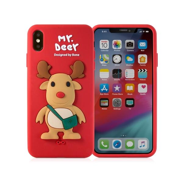 【BONE】IPhone XS MAX 公仔保護套-麋鹿先生